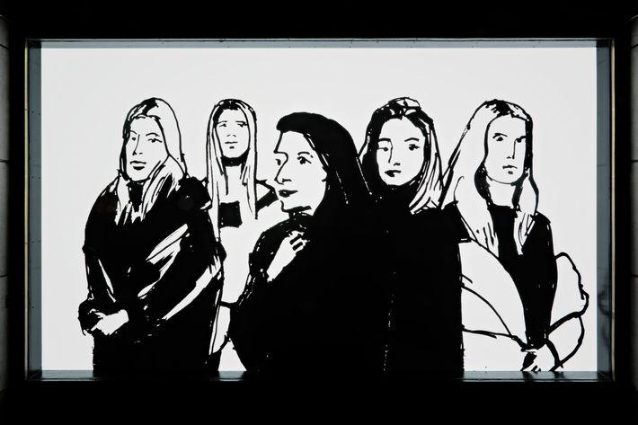 Alex Katz's mural for Barneys New York.