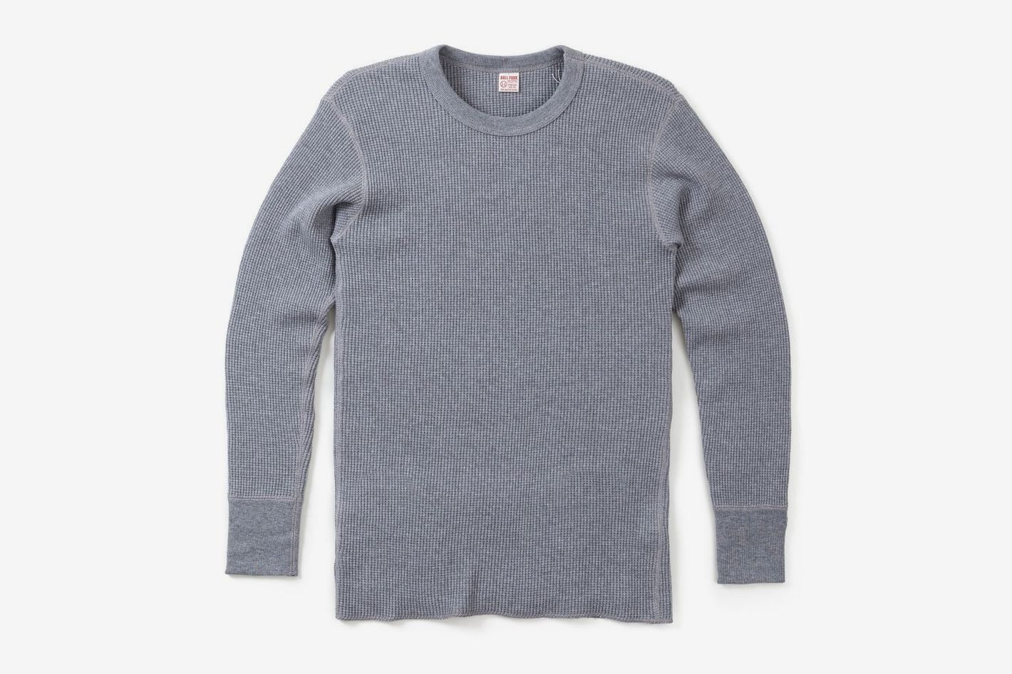 The Real McCoy's — Joe McCoy Waffle Knit Thermal Shirt, Grey