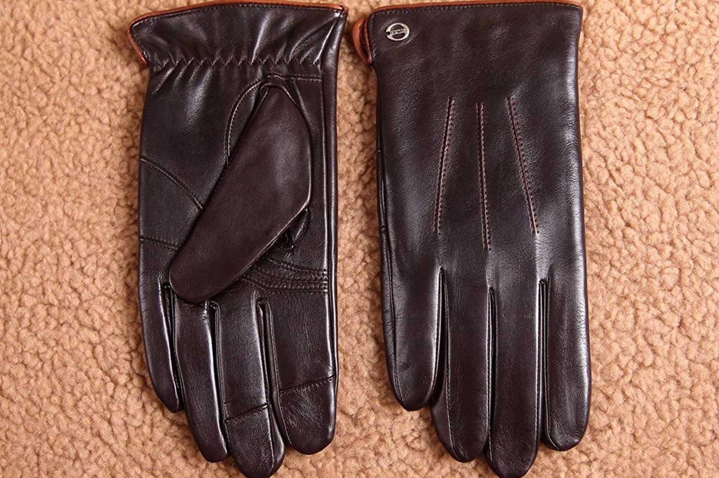 Elma Luxury Men's Touchscreen Leather Gloves