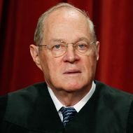 Justice Anthony M. Kennedy poses during a group photograph at the Supreme Court building on September 29, 2009 in Washington, DC.
