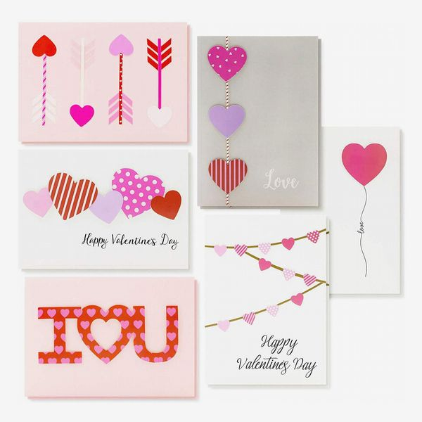 Unique Handmade Valentine's Day Cards with Envelopes (12-Pack)