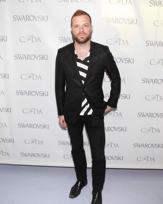 Simon Spurr at the 2012 CFDA Awards Nominee announcement party.