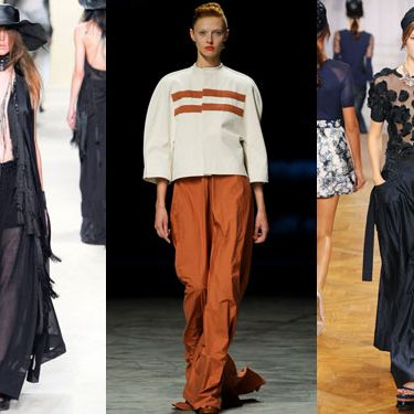 New spring looks from Ann Demeulemeester, Rick Owens, and Nina Ricci.