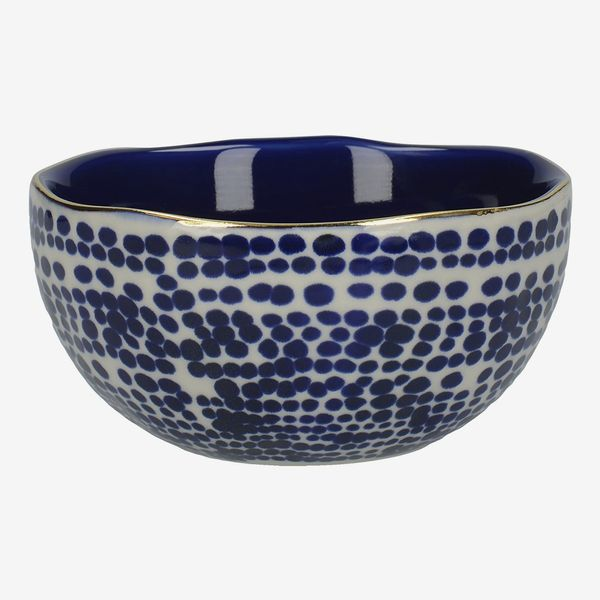 Mikasa Azores Stoneware Bowl with Decorative Speckle Pattern