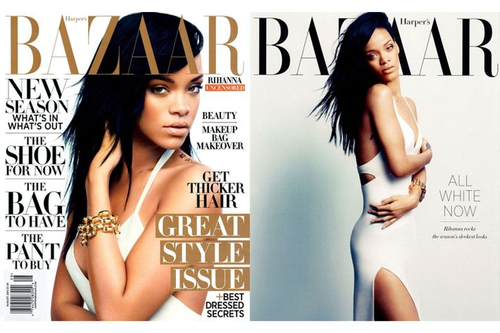 Rihanna, photographed for <em>Harper's Bazaar</em> by Camilla Akrans.