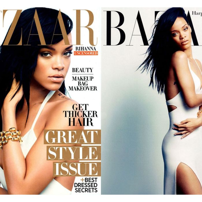 Rihanna, photographed for <em>Harper's Bazaar</em> by Camilla Akrans.