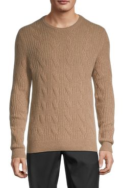 Saks Fifth Avenue Cable-Knit Cashmere Sweater