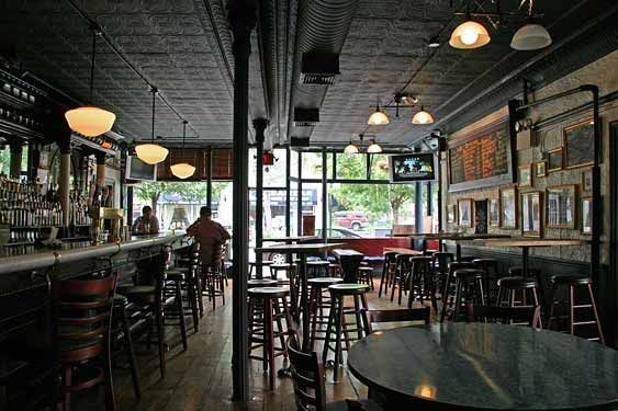 Dark days: The old P.J. Hanley's interior, which has since been renovated.