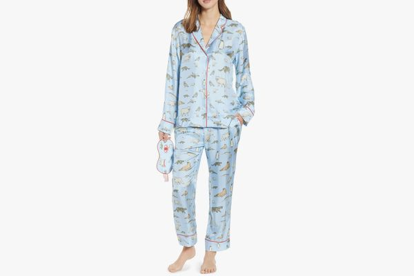 CJW Winter Animals Pajamas & Eye Mask