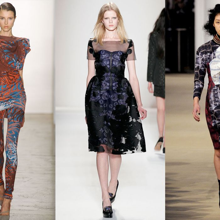 Looks from Costello Tagliapietra, Honor, and Cynthia Rowley.