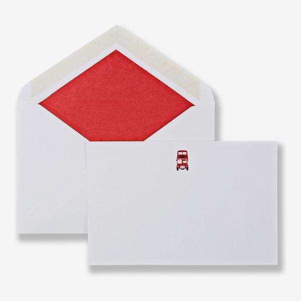 Smythson London Bus Correspondence Cards