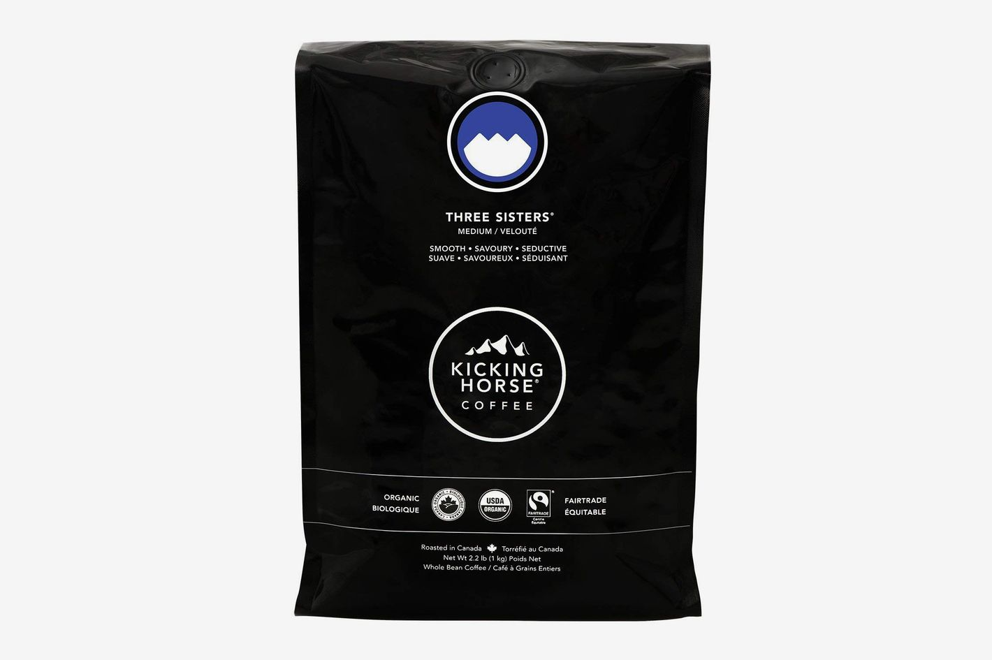 Kicking Horse Coffee, Three Sisters, Medium Roast, Whole Bean, 2.2 Pounds