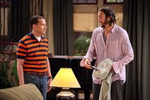 """Nice To Meet You, Walden Schmidt"" -- Alan Harper (Jon Cryer) and Walden Schmidt (Ashton Kutcher) star on TWO AND A HALF MEN, Mondays (9:00-9:31 PM, ET/PT) on CBS. Photo: Danny Feld/CBS/Warner Bros. ?2011 Warner Bros. Television. All Rights Reserved."