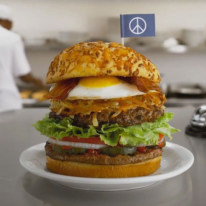For a peace-loving burger, this looks weaponized.
