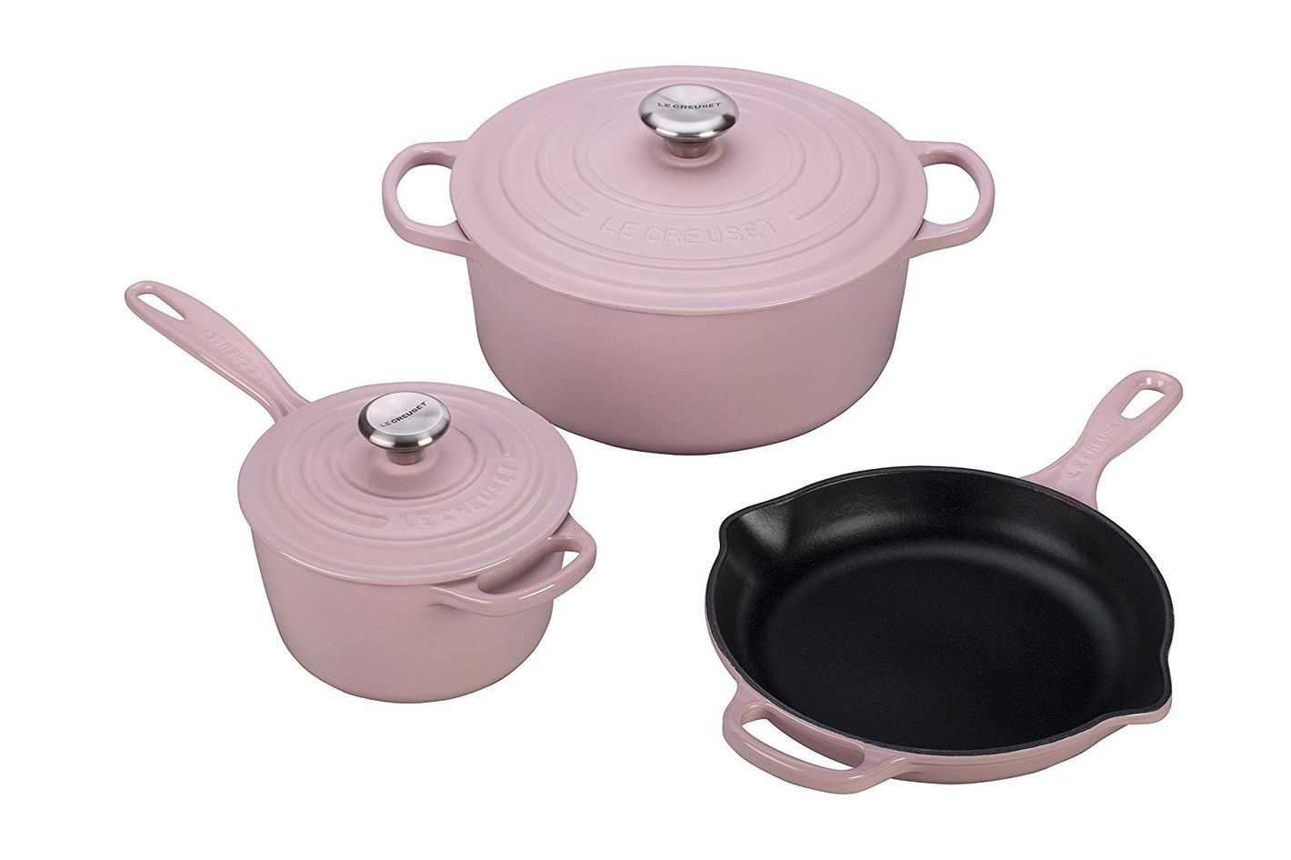 Le Creuset of America 5 Piece Signature Enameled Cast Iron Cookware Set