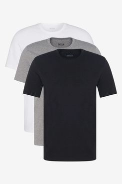BOSS Mens T-Shirt RN 3P CO Three-Pack of Underwear T-Shirts in Pure Cotton