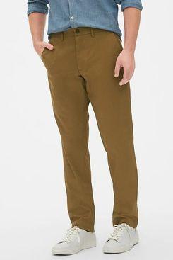 Gap Modern Khakis in Slim Fit with GapFlex, Palomino Brown