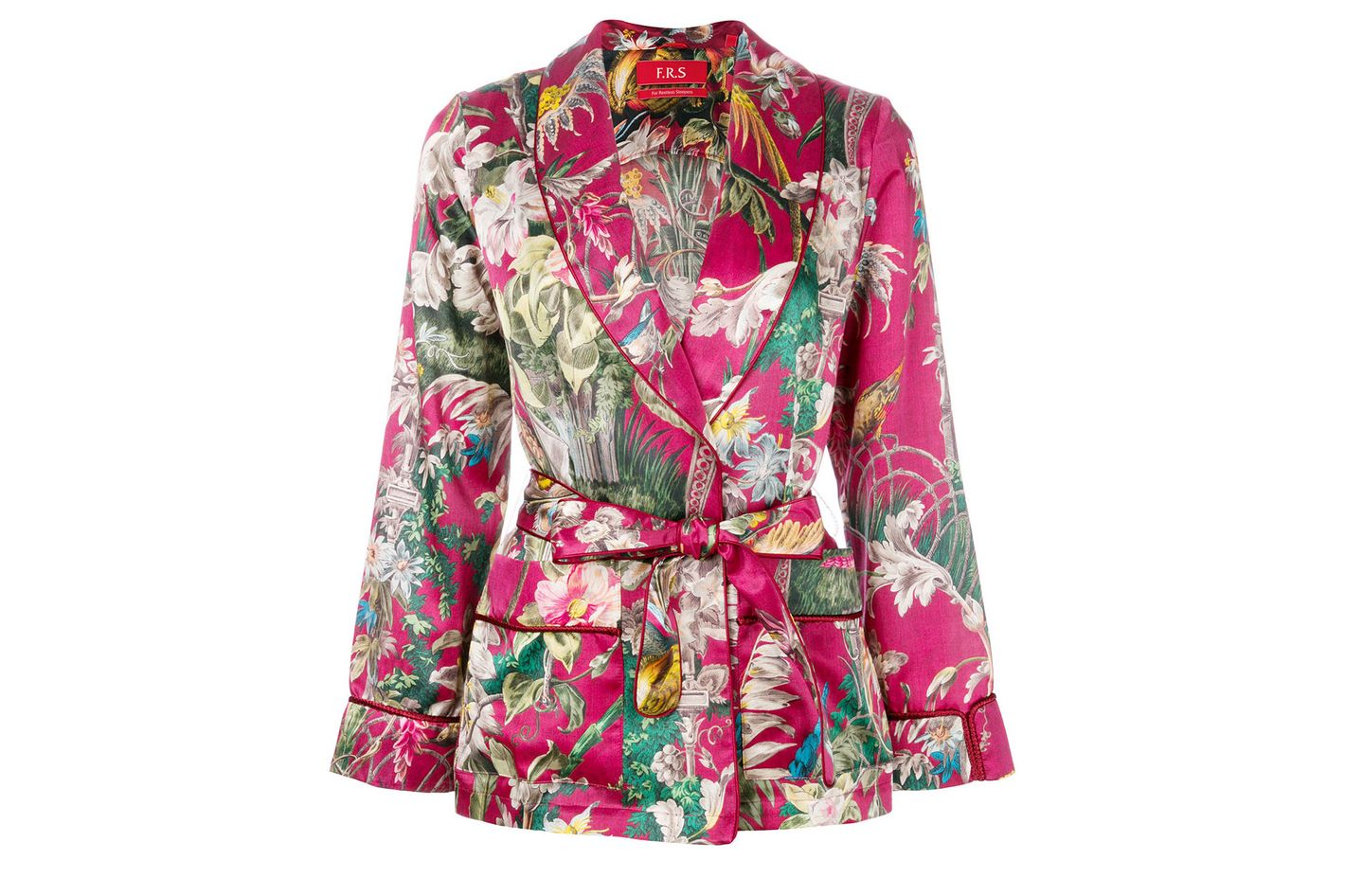 F.R.S FOR RESTLESS SLEEPERS floral waist-tied blazer