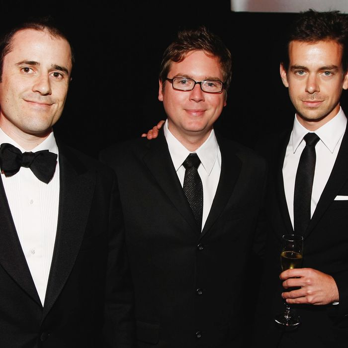 Evan Williams, Biz Stone and Jack Dorsey of Twitter attend Time's 100 Most Influential People in the World Gala at the Frederick P. Rose Hall at Jazz at Lincoln Center on May 5, 2009 in New York City.