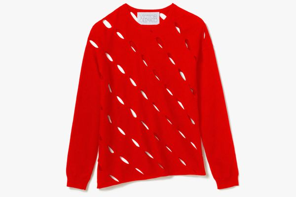Victor Glemaud Slash Sweater in Red