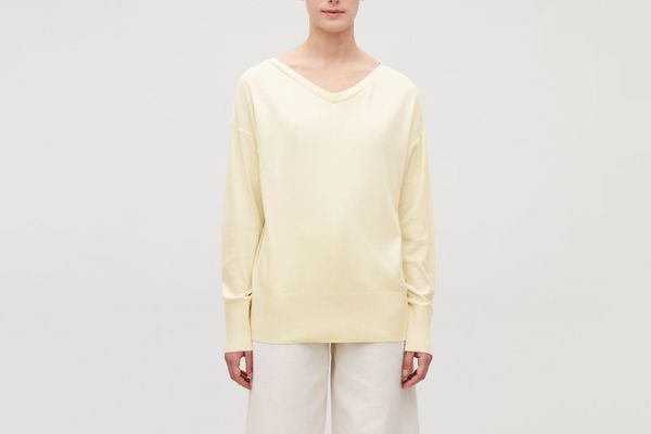 COS Wide V-Neck Sweatshirt