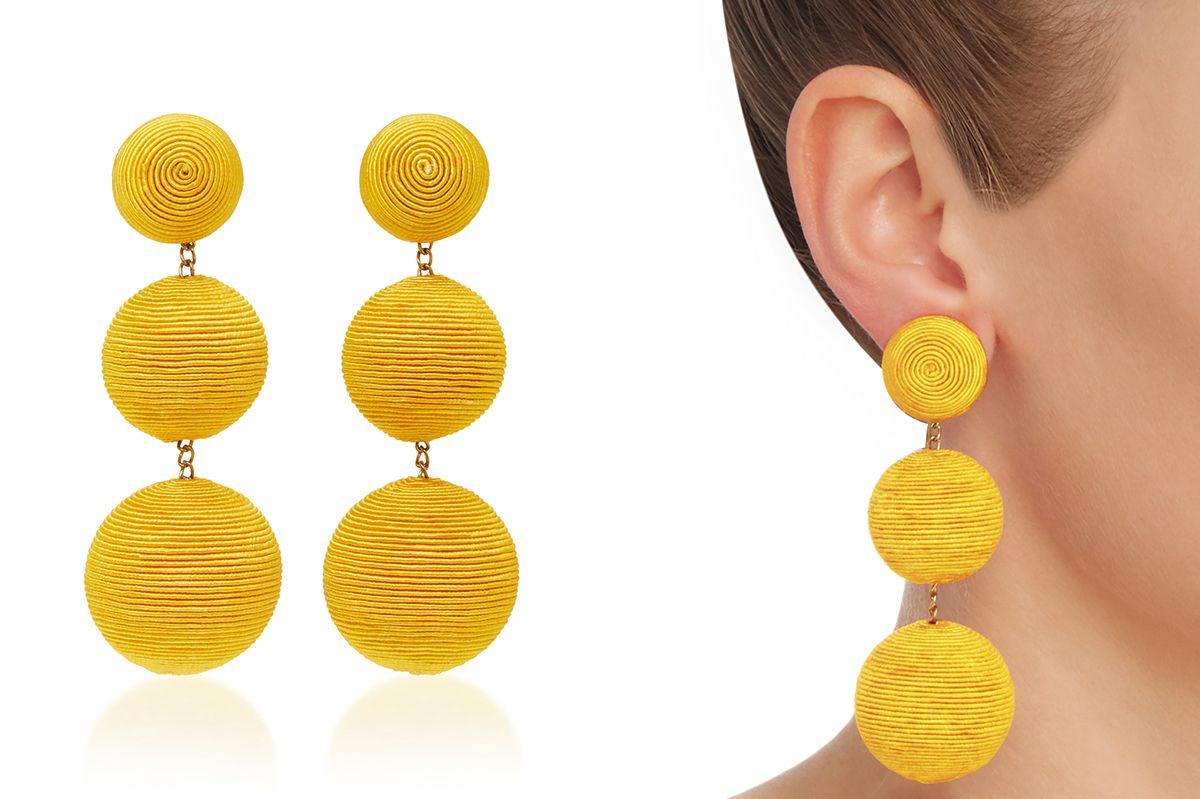 Rebecca De Ravenel Clic Silk Corded Clip Earrings At Moda Operandi