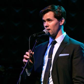 NEW YORK, NY - DECEMBER 05: Singer/actor Andrew Rannells performs onstage during A Better Holiday benefit concert at Joe's Pub on December 5, 2011 in New York City. (Photo by Mike Lawrie/Getty Images)