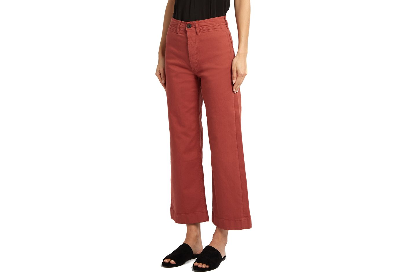 M.I.H. Jeans Caron Wide-Leg Cropped Denim Trousers