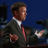 U.S. Sen. Rand Paul (R-KY) speaks during the third day of the Republican National Convention at the Tampa Bay Times Forum on August 29, 2012 in Tampa, Florida. Former Massachusetts Gov.Mitt Romney was nominated as the Republican presidential candidate during the RNC, which is scheduled to conclude August 30.
