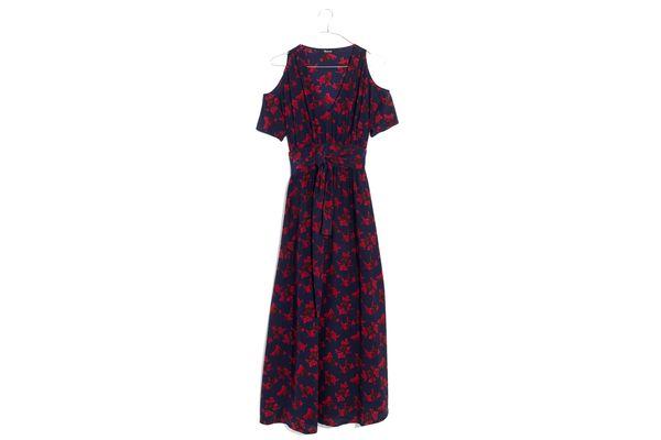 Madewell x No.6 Silk Open-Shoulder Dress