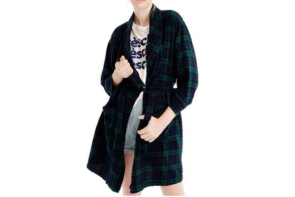 J.Crew Blackwatch Flannel Short Robe