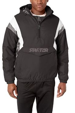 Starter Men's Throwback Half-Zip Pullover Jacket