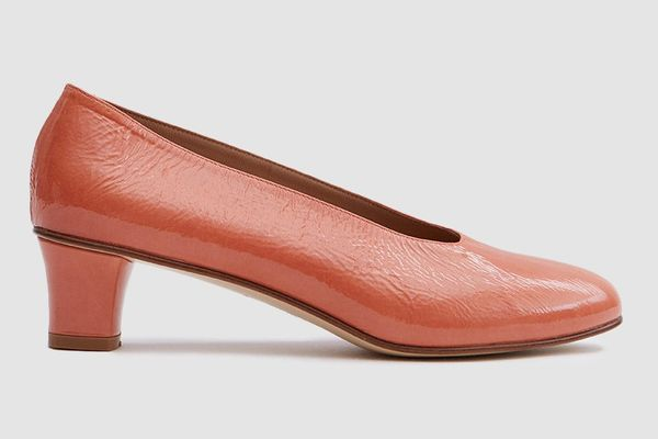 Martiniano High Glove in Patent Terracotta