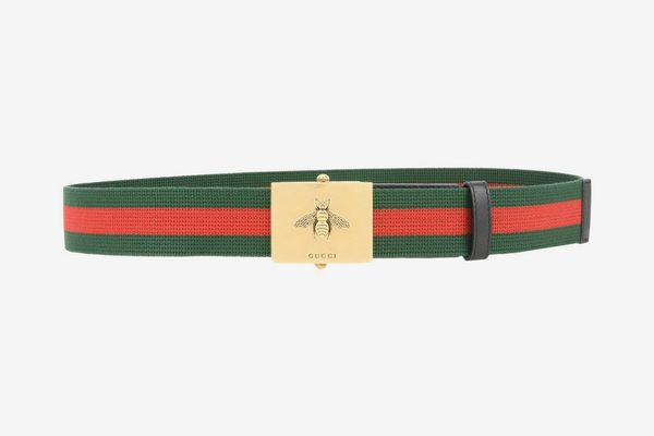 Gucci Canvas Web Belt With Bee Buckle