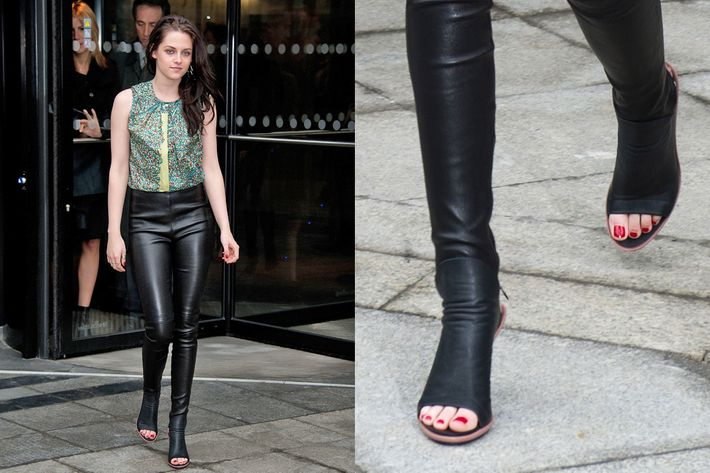 Kristen Stewart at today's Balenciaga show.