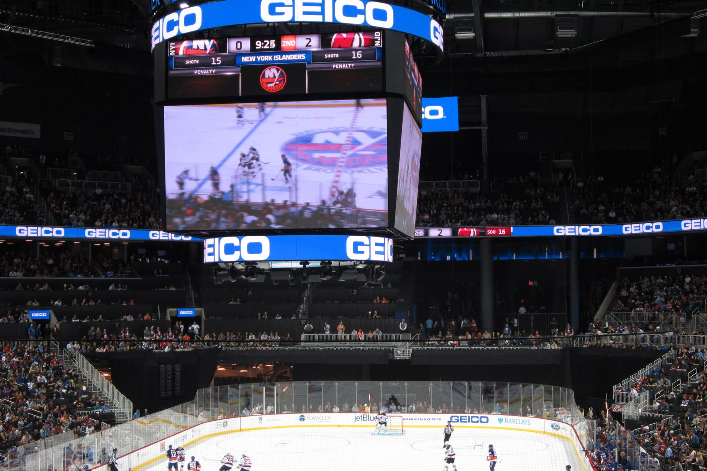 There are some pretty bad seats for hockey at barclays center