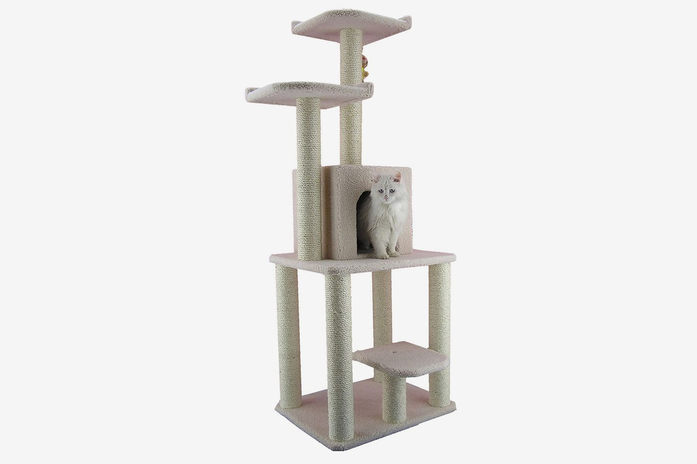 Armarkat Cat Tree Furniture Condo, Ivory