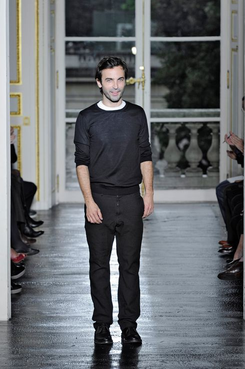 Nicolas Ghesquiere on his runway at the Balenciaga Spring Summer 2011 fashion show during Paris Fashion Week on September 30, 2010 in Paris, France.