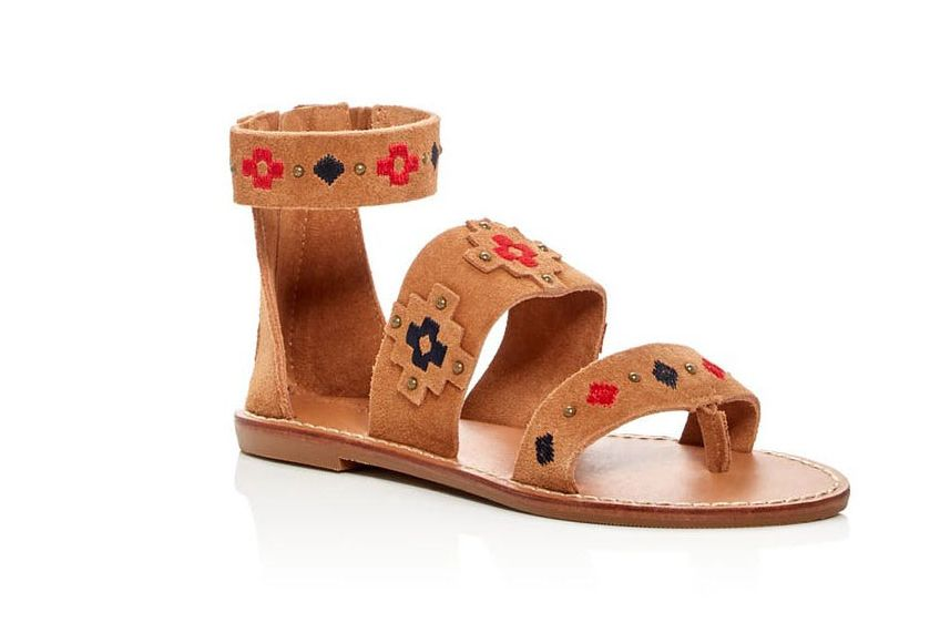 Soludos Embroidered Strappy Sandals