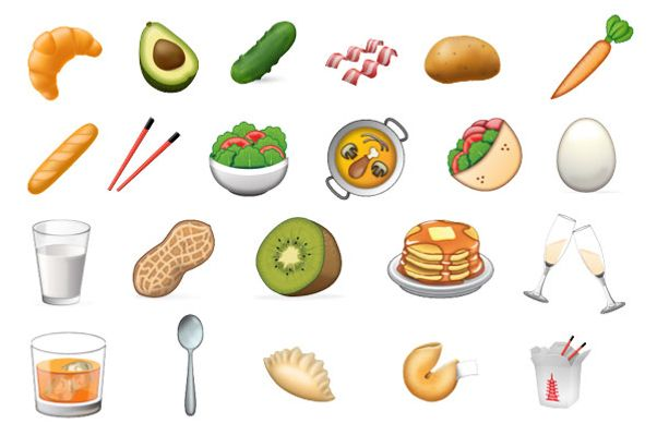 The full set of food candidates.