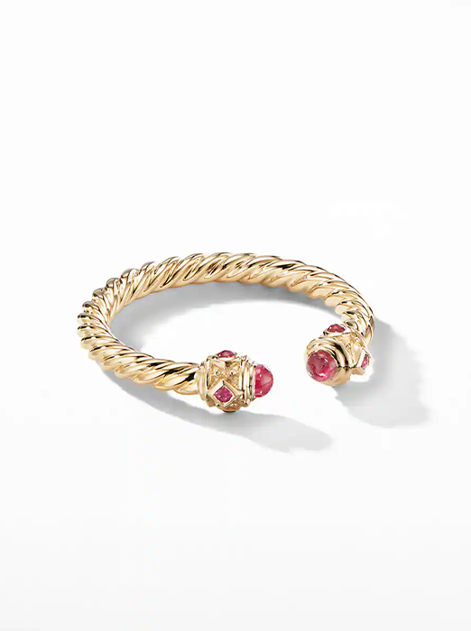 Renaissance Ring in 18K Gold with Rubies