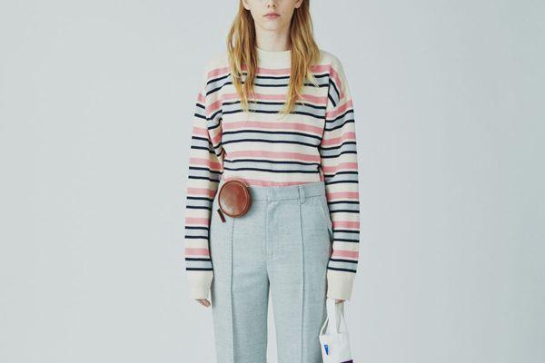 Ader Error Striped Long Sleeve Knitwear