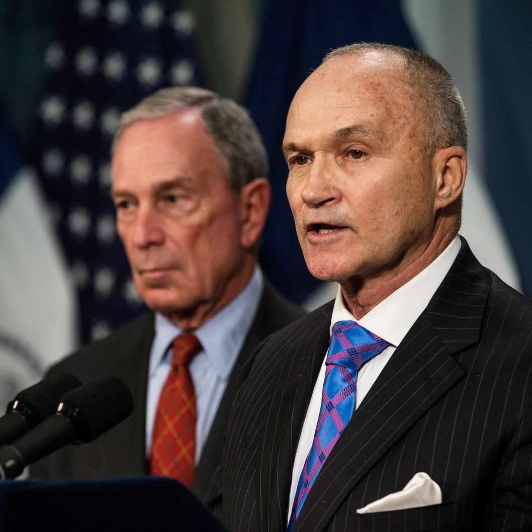 New York Police Department (NYPD) Commissioner Ray Kelly (R) speaks at a press conference with New York City Mayor Michael Bloomberg about the NYPD's Stop-and-Frisk practice on August 12, 2013 in New York City. A federal court judge ruled that Stop-and-Frisk violates rights guaranteed to people; the Bloomberg administration has vowed to appeal the case.