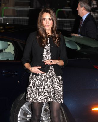 LONDON, ENGLAND - DECEMBER 06: Catherine, Duchess of Cambridge and Prince William, Duke of Cambridge (not pictured) arrive for a Gary Barlow Concert at the Royal Albert Hall on December 6, 2011 in London, England.