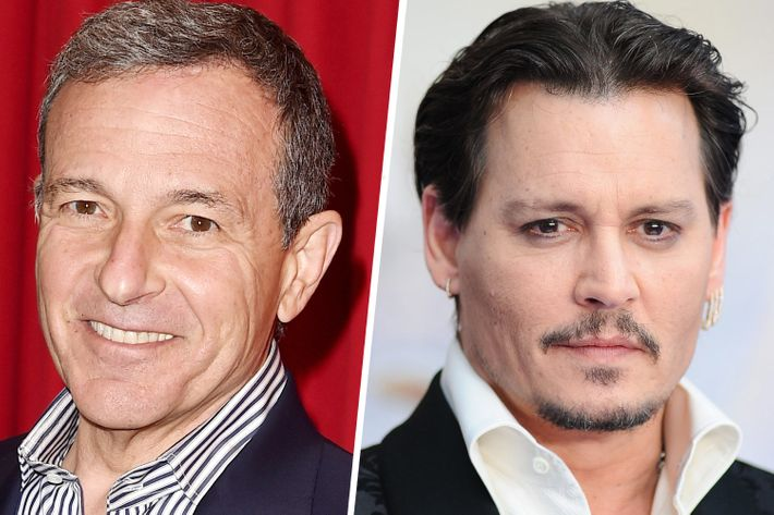 Bob Iger, Johnny Depp.