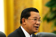 Cambodian Prime Minister Hun Sen attends a bilateral meeting with Chinese President Hu Jintao at the Great Hall of the People in on December 15, 2010 in Beijing, China. Hun Sen is to hold talks with Chinese President Hu Jintao on December 15. His visit will also include stops in the northern port city of Tianjin and the eastern city of Nanjing, according to a Cambodian government statement.