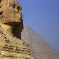 A picture shows the Sphynx near the pyramids in Giza, on the outskirts of Cairo, on November 30, 2010.