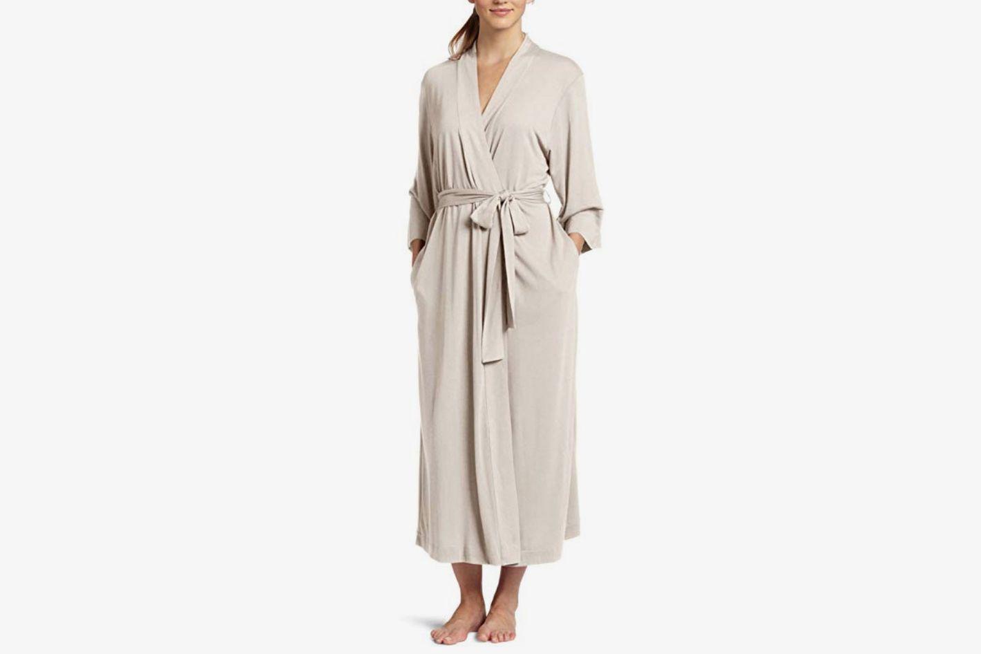 Natori Shangri La Long Robe with Kimono Sleeves