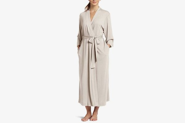 Natori Shangri La Long Robe with Kimono Sleeves