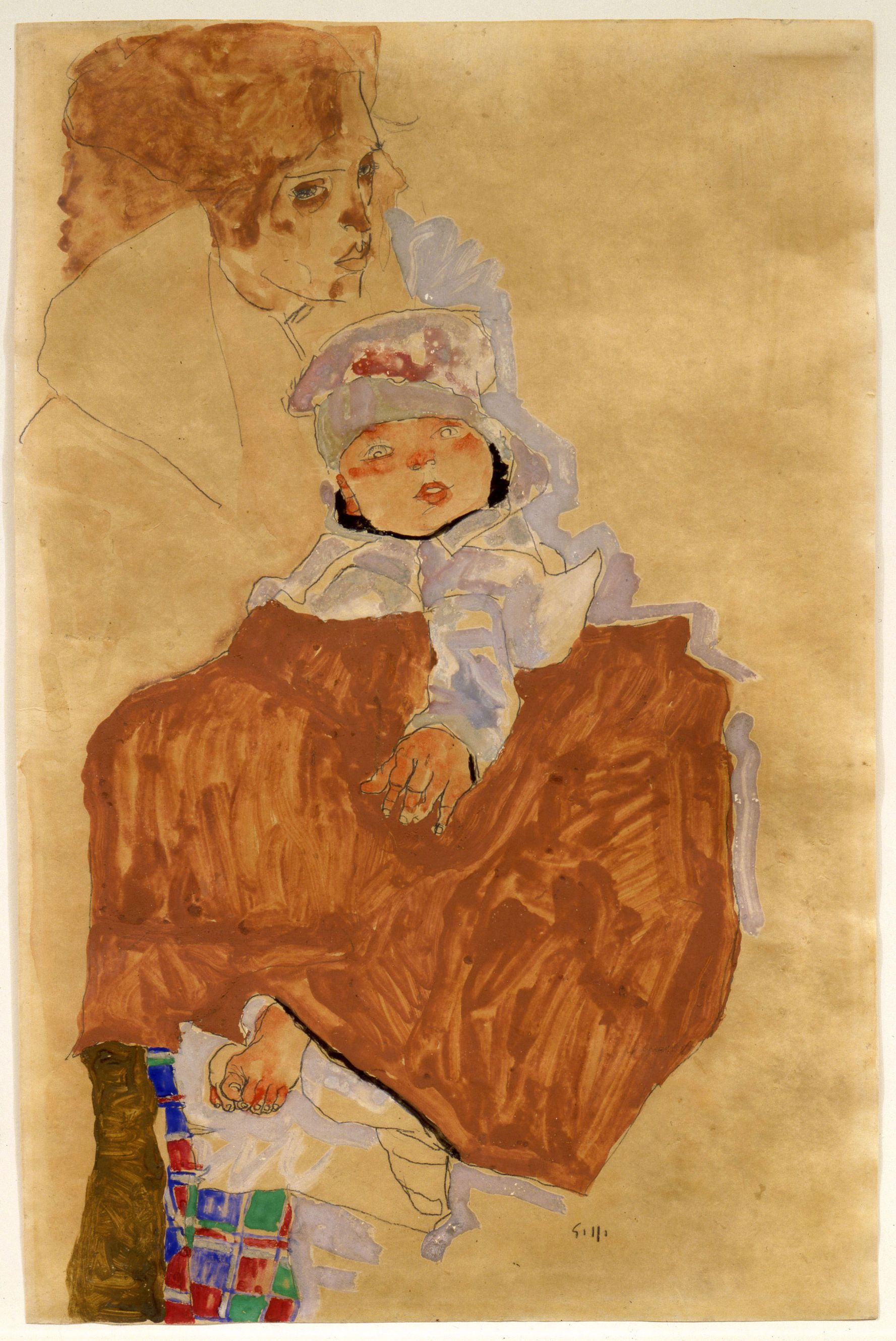 Photo 1 from Mother and Child,Egon Schiele.